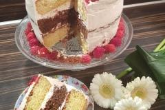 Naked Cake Framboos...